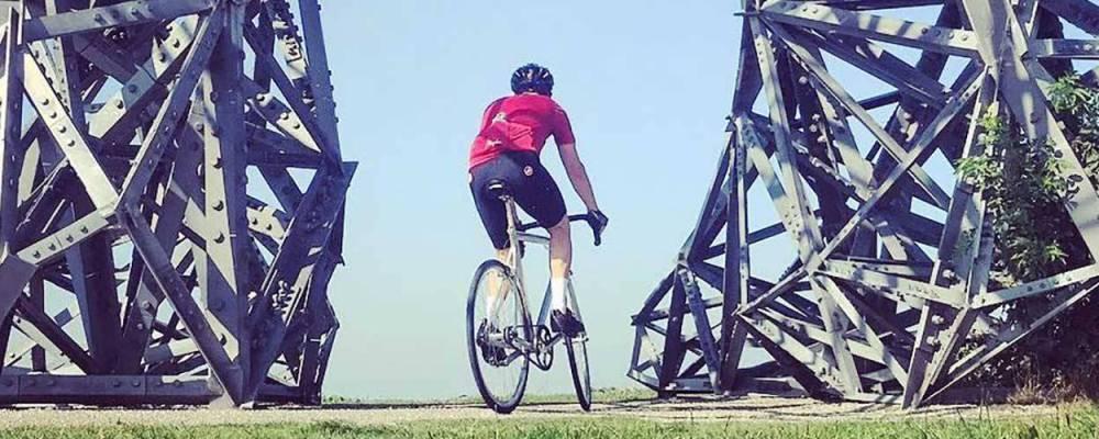 De dagelijkse fietsfoto's van Jacco de Vries zijn een lust voor het oog