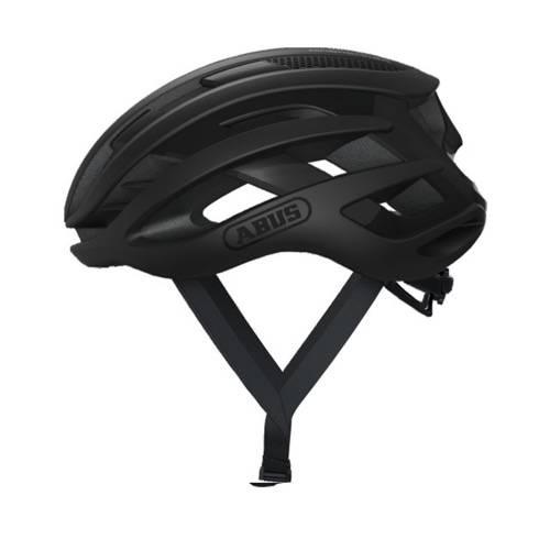 Voorbeeld van de Abus Airbreaker fietshelm in de kleur Velvet black