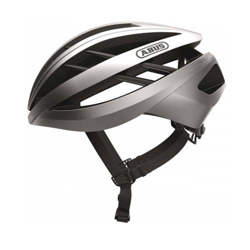 Voorbeeld van de Abus Aventor fietshelm in de kleur Silver