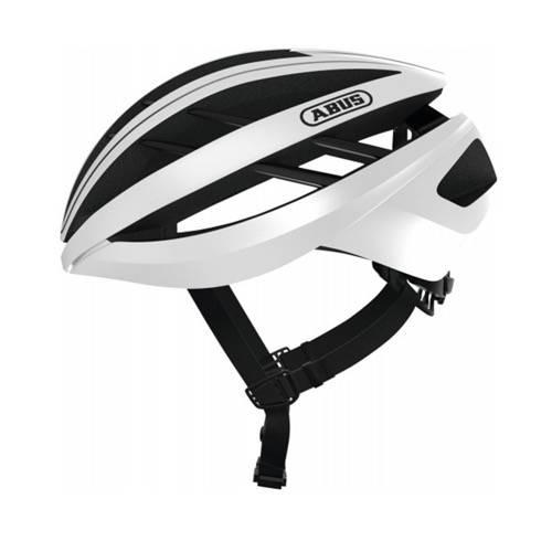 Voorbeeld van de Abus Aventor fietshelm in de kleur Polar white
