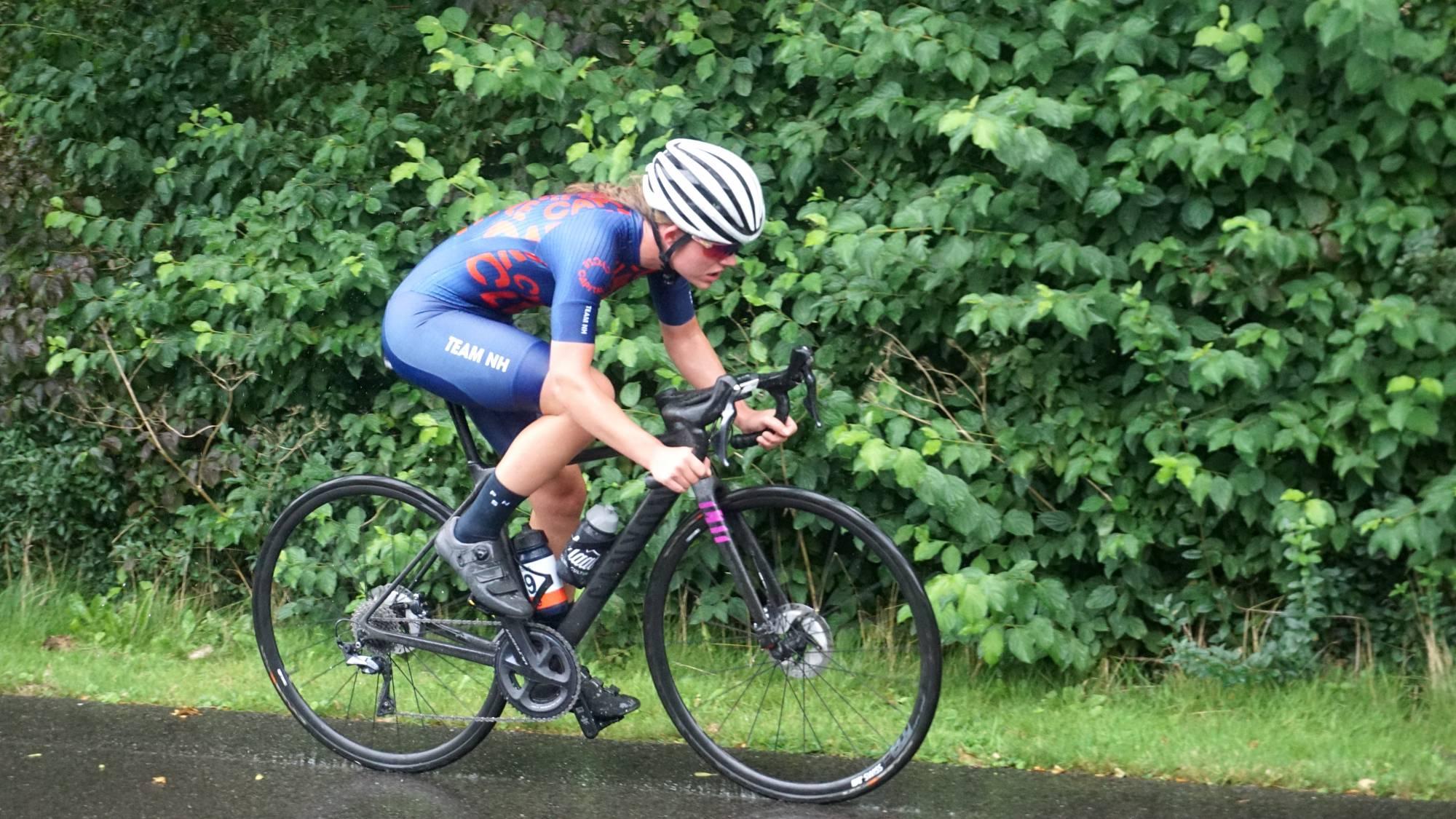Annemarie Schonk reed een uitstekende laatste tijdrit in de Cycle Capital Time Trial Challenge.