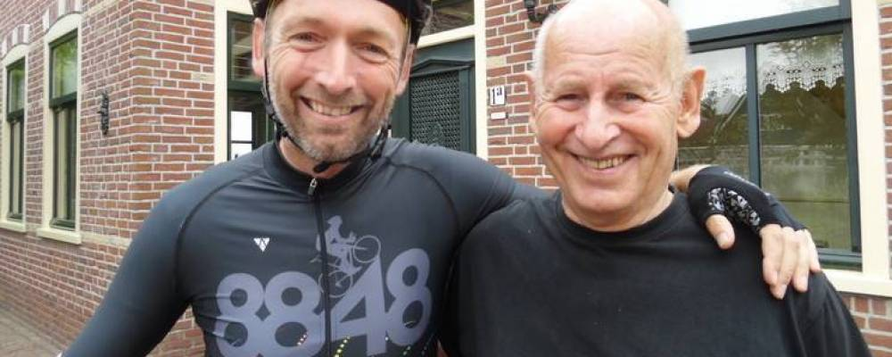 Cycle Capital clublid Jacco de Vries fietst voor zijn vader en andere mensen met polyneuropathie.